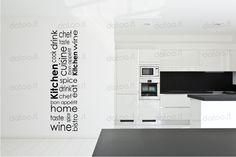 WALL STICKER CUCINA KITCHEN 3 Adesivi Murali Pareti wallstickers wallsticker | eBay
