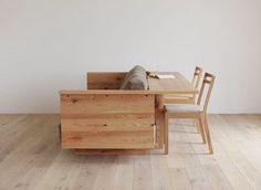 дневник дизайнера: Диваны и столики из массива дерева для гостиной от Hirashima