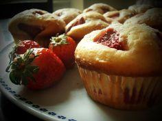 Šťavnaté jahodové muffiny