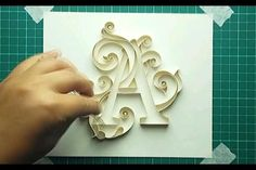 how to make alphabet letters with paper quilling Quiling Paper Art, Paper Quilling Cards, Quilling Letters, Paper Quilling Jewelry, Paper Quilling Designs, Paper Letters, Paper Quilling For Beginners, Quilling Videos, Quilling Craft
