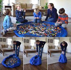Портативный детские игрушки сумка для хранения и играть мат Lego игрушки организатор бен Box XL мода ультра-практическая хранения сумки