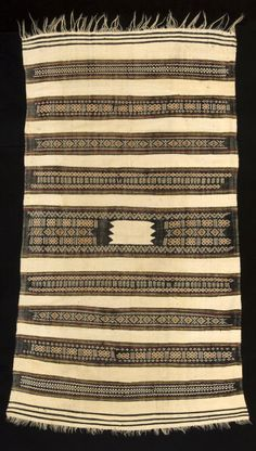Africa | Ait Hichem Women's Mantle from the Kabylie region, Algeria | Wool and cotton, natural dyes