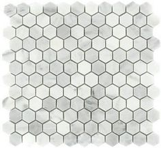 "Carrara Venato Marble Hexagon Honed 1"" Mosaic Tile9 Reviews   Item #CVH-1X1-HEXRegular Price:$19.55Starting at:$11.25"