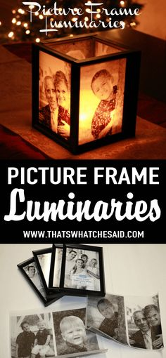 """Picture Frame Luminaries at <a href=""""http://thatswhatchesaid.com"""" rel=""""nofollow"""" target=""""_blank"""">thatswhatchesaid.com</a>"""