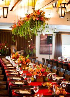 Hanging wedding centerpiece - #ceilingdecor #hangingcenterpiece #weddingflorals