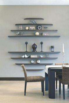 50 best diy interior wood projects design ideas for home - DIY Wohnen Diy Interior, Interior Decorating, Kitchen Interior, Modern Interior, Decorating With Shelves, Decorating Ideas, Stylish Interior, Room Interior Design, Hallway Decorating