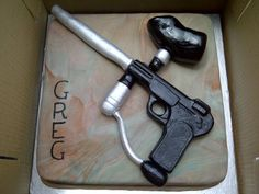 Paintball cake with camouflage interior