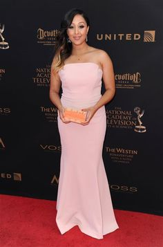 Tamera Mowry-Housley arrives at the 43rd Annual Daytime Emmy Awards at the Westin Bonaventure Hotel and Suites in Los Angeles on May 1, 2016