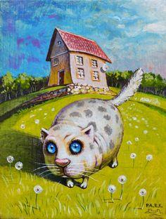 Просмотреть иллюстрацию На даче из сообщества русскоязычных художников автора Павел Кульша в стилях: Детский, нарисованная техниками: Акрил.