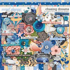 Chasing Dreams by Sugary Fancy and WendyP Designs Scrapbook Kit, Scrapbooking Ideas, Scrapbook Pages, Digital Scrapbooking, Can You Can, Chasing Dreams, Reaching For The Stars, Yandex, Spice Things Up