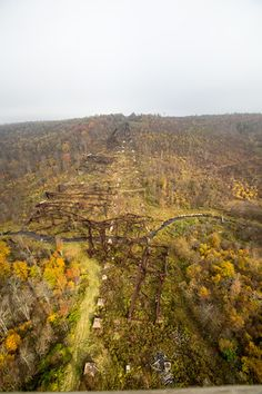 Kinzua Bridge State Park - The 339-acre  Park offers visitors a chance to walk the Kinzua Bridge skywalk. The Viaduct, once known as the longest and tallest railroad structure at 2,053 feet long and 301 feet high, was partially destroyed by a tornado in 2003.
