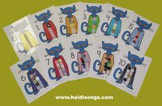 "Today I am excited to share a brand new Pete the Cat Match Sets freebie, and also to tell you about my newest book in the Wiggles series, ""Wiggles' First Day of School. Preschool Literacy, Preschool Books, Preschool Themes, Kindergarten Math, Classroom Themes, Children Activities, Pete The Cat Buttons, Memorial Day, Ideas"