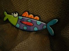 """Catch of the day!!! This fresh fish measures 21"""" x7"""". Made of wood...,hand painted, then coated with epoxy resin."""