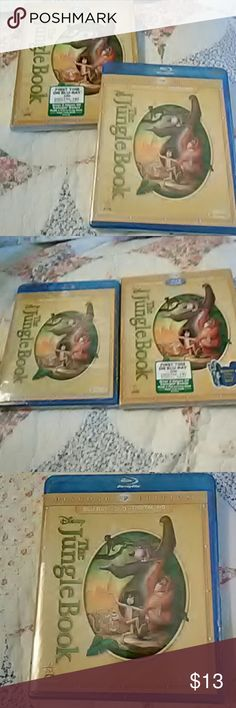 The Jungle Book Disney Movie Blu-ray, DVD, and Digital copy /brand new/ never opened, still in plastic wrapper and cover. Disney Other