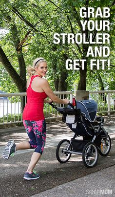 Check out this full body workout that you can do with your baby in a jogging stroller! @angelahardy