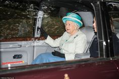 A final visit this season to Craithie church: the Queen was greeted by well-wishers as she...