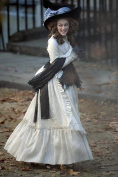 """Keira Knightley on the set of """"The Duchess""""."""