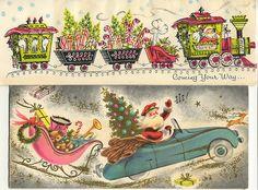 Santa christmas cards christmas, art of the vintage card vin Vintage Christmas Images, Vintage Christmas Ornaments, Retro Christmas, Santa Christmas, Vintage Holiday, Christmas Pictures, Christmas Greetings, Winter Christmas, Christmas Glitter