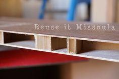 Repurposing Hollow Core Doors Into Shelves | Reuse it Missoula