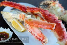 BBQ King Crab - Sweet, tender BBQ king crab meat dipped into a sweet, citrusy, homemade ponzu sauce. It's a perfect match for the summer! King Crab Recipe, Crab Legs Recipe, Crab Recipes, Asian Recipes, Appetizer Recipes, Hawaiian Recipes, Appetizers, Easy Japanese Recipes, Japanese Food