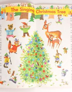Vintage Christmas illustrations by Richard Scarry