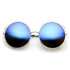 58208c0ba Indie Retro Dual Metal Round Mirrored Lens Sunglasses 9621. Óculos De Sol  De Armação RedondaEspelhos RedondosLentesVerão ...