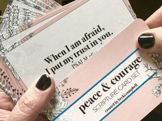 Peace and Courage  Scripture Card Set  Bible Verse Cards