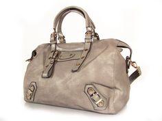 vegan leather handbag purse light gray   the Phelan  by TRACCEbags, $99.00