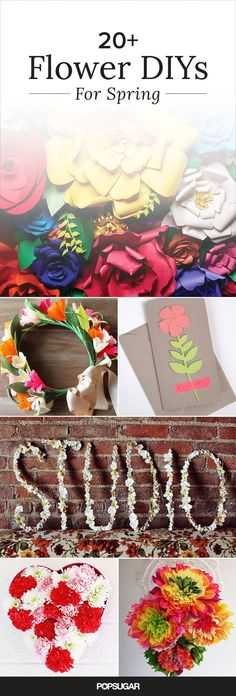The flowers are blooming and so is our creativity! Get into the spirit of the most beautiful time of the year and create these 21 floral DIYs. You can use them for your home, a party, or as a gift. Check out all of our blossoming ideas.