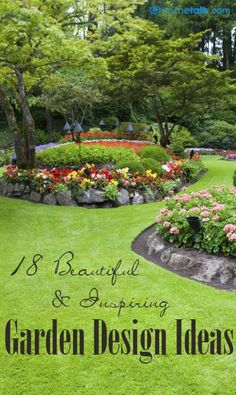 18 {Beautiful & Inspiring} Garden Design Ideas! #gardendesign