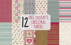FREE Christmas Docrafts Papers - Papercrafter