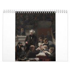 Portrait of Dr. Samuel D. Gross by Thomas Eakins Calendar