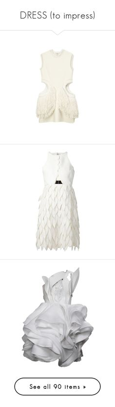 """""""DRESS (to impress)"""" by nn10 ❤ liked on Polyvore featuring dress, cocktaildress, casualdress, dresses, tops, celine, white dress, white colour dress, white color dress and white day dress"""