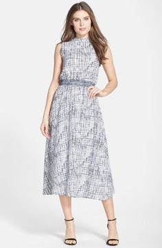 Darling 'Polly' Print Crepe Midi Dress available at #Nordstrom