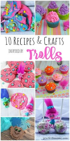Super Cute Trolls Recipes and Crafts To Make With Your Kids. These are the best ideas for a troll inspired birthday party! Trolls Party, Trolls Birthday Party, 4th Birthday Parties, Birthday Fun, Birthday Ideas, Rainbow Birthday, Los Trolls, Girls Party, Partys