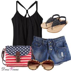 A adorable outfit for the 4th of july! or any day during the summer in general!