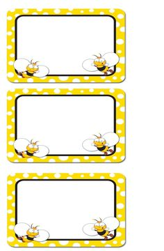 Crafts,Actvities and Worksheets for Preschool,Toddler and Kindergarten.Lots of worksheets and coloring pages. Preschool Name Tags, Printable Name Tags, Spelling Bee, Bee Party, Bee Theme, School Decorations, Classroom Themes, Kindergarten, Cupcake Illustration