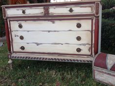 Bohemian/Gypsy Dresser Chalk Paint by Annie Sloan... Emperor's Silk, Old White, Provence