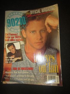 The Official Beverly Hills 90210 TV Show Magazine Dec 1992 Luke Perry Ian Ziering