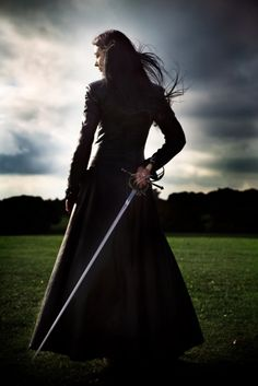 The girl with the sword