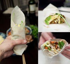 lumpiah/popiah - sort of like an asian burrito! sound delish.