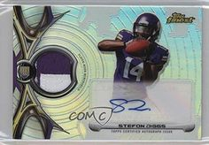 Stefon Diggs (Football Card) 2015 Topps Finest - Rookie Refractor Autographed Patch #RRAP-SD