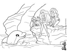 dolfin and barbie s friends coloring page dr8
