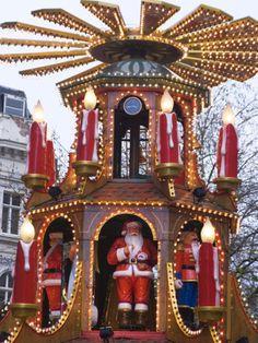 The Annual Frankfurt Christmas Market, Birmingham, West Midlands, England, United Kingdom, Europe Photographic Print