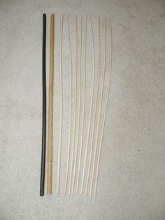 11 Stück Orginal Manila  Rohrstock / Spanking  Set 60 cm