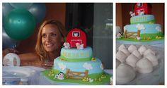 Torta para un baby shower campestre. Farm Baby Shower. Cake. http://antonelladipietro.com.ar/blog/2011/02/babyshower-sole-villarreal/