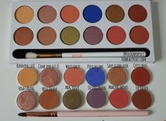 This is not meant to be a dupe post more like a comparison that you guys requested to do with the Royal peach palette by Kylie vs the closest shades in the current ColourPop Pressed shadows release. Plus a MUG shade that I had to add due to a lack of a close green gold shade.