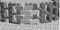 lego round tower 1x2 tile facade