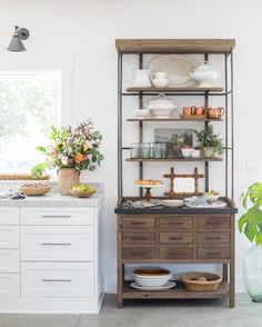 French Display Cabinet in the kitchen for that authentic feeling Heather Bullard