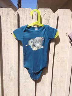 Pit Bull Baby Bodysuit  Organic Cotton  American by RandomOasis